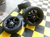 Porche Wheels Powder Coated FLAT Black as WeLL as Lug Nuts